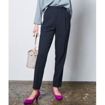 洗えてすごく伸びるタックテーパードパンツ(上下別売りスーツ) (大きいサイズレディース)スーツ,women's suits ,plus size