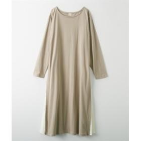サイドプリーツ切り替えワンピース (ワンピース),dress