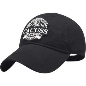 CACUSS キャップ 帽子 メンズ レディース 春夏 日よけ野球帽 ぼうし コットン100% 男女兼用 速乾 軽薄 調整可能 登山 釣り ゴルフ 運転 スポーツ帽子 無地(B0085黒)