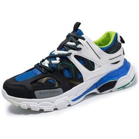[チャンピオン靴店] 男性用メッシュスポーツシューズ通気性ランニングシューズウォーキングジョギングシューズ 26cm 青
