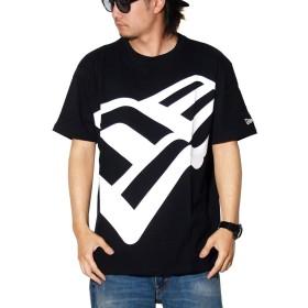 [NEW ERA(ニューエラ)] Tシャツ メンズ ズームアップフラッグ ブラック×ホワイト 黒 11901369 M