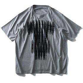 DANIEL DODD オーガニックプリント半袖Tシャツ(ONEOFTHESTDAYS) azt-180213 大きいサイズ メンズ【916.杢グレー-4L】