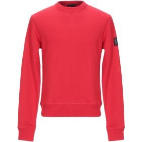 《期間限定 セール開催中》BELSTAFF メンズ スウェットシャツ レッド S コットン 100%