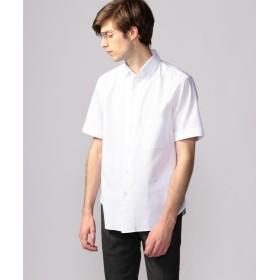 【40%OFF】 トゥモローランド コットンカラミ ワンピースカラー半袖シャツ メンズ 11ホワイト M 【TOMORROWLAND】 【セール開催中】