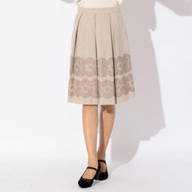 SALE【トゥー ビー シック(TO BE CHIC)】 【L】ヘリンボンツイードスカート 【L】ヘリンボンツイードスカート ベージュ