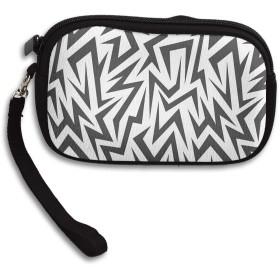 財布 幾何学的な線 小さい財布 コインケース財布 収納 レディース 可愛 いキーケースしわ防止 高校生 パターン 小銭入れ 人気 大容量 軽量 多機能