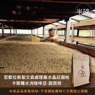 【咖啡綠商號】宏都拉斯聖文森處理廠水晶莊園帕卡斯種水洗咖啡豆-甜荔枝(半磅)