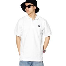 D.O.P(ディーオーピー) ポロシャツ メンズ 半袖 ホワイト XL 白 黒 大きいサイズ ボタンダウン 無地 綿100 鹿の子 b系 ストリート系 ファッション
