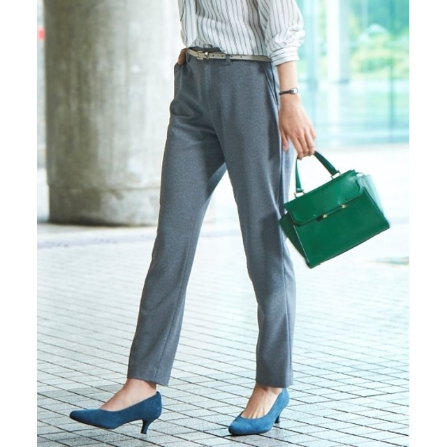 洗えるニットツイルテーパードパンツ(上下別売り)【レディーススーツ】 (大きいサイズレディース)スーツ,women's suits ,plus size