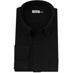 FLiC 黒 長袖 ワイシャツ 形態安定 L(ノーマル) ボタンダウン/kl-l-kb1502