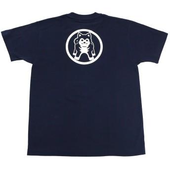 麿紋 maromon 半袖Tシャツ 柴犬 ユニセックス 紺 S 日本製 バックプリント