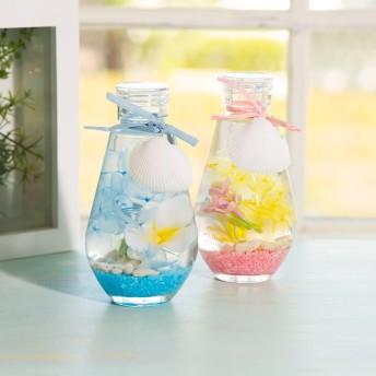 【ディノスの敬老の日】ハーバリウム ハワイアン サマー 花材 オイル 瓶 ギフト 誕生日 プリザーブドフラワー アーティフィシャルフラワー ブルー ピンク FP3005