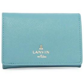 [ランバン オン ブルー] 三つ折り財布 リュクサンブール レディース 481173 【82】ブルー