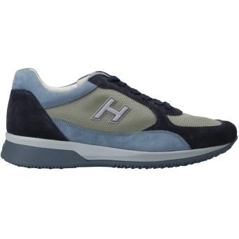 《セール開催中》HOGAN メンズ スニーカー&テニスシューズ(ローカット) ダークブルー 5.5 革 / 紡績繊維