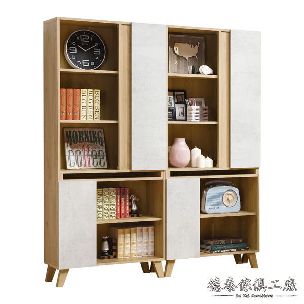 D&T 德泰傢俱 JOYE清水模風格5.3尺組合書櫃 A011-J16-2