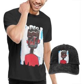 ジャンミシェルバスキア成人ファッションのtシャツと野球のカウボーイ帽