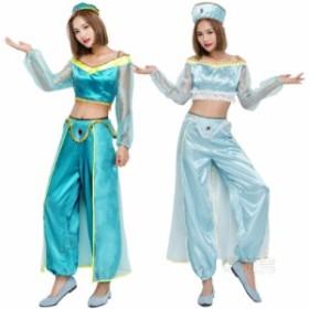 アラビア風  ハロウィン インド ベリーダンス コスプレ レディース コスチューム  大人用 イベント衣装 ダンス衣装 ステージ仮装