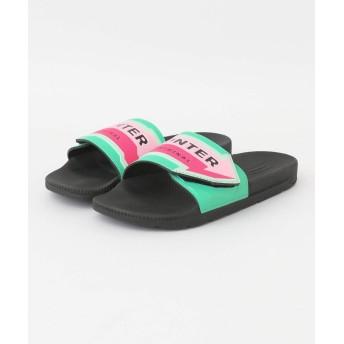 [アメメ] 靴 サンダル HUNTER ADJ SLIDE ARROWPRINT レディース グリーン 4