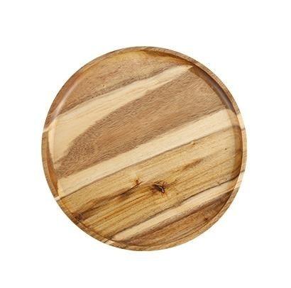 木托盤長方形木盤子 圓日式木質木頭pizza盤蛋糕點心披薩板牛排盤