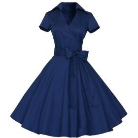 WE&energy 女性レトロスタイルMDロングエレガンス1950年代ワイルド曲線イブニングドレス AS4 M