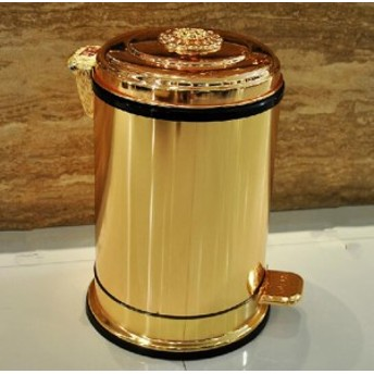 豪華な 10L ダストビン 丸形 ペダル式ゴミ箱 インテリア小物 おしゃれ レトロ ダストボックス インテリア 大容量ごみ箱