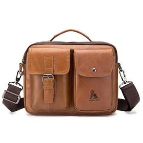 Misscase ショルダーバッグ メンズ 本革 メッセンジャーバッグ 3way ビジネス 通勤 出張 旅行 斜めがけ 手提げ カジュアルバッグ かばん レザー 紳士用 多機能 アウトドア メンズバッグ