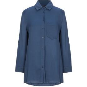 《セール開催中》MANILA GRACE レディース シャツ ブルー 42 レーヨン 97% / ポリウレタン 3%