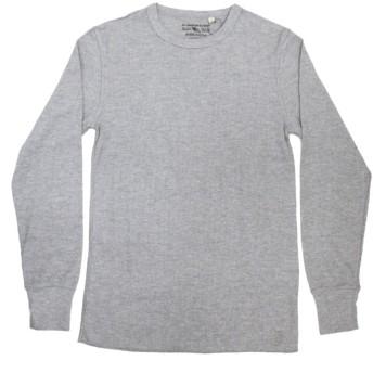 (アヴィレックス) AVIREX DAILY デイリー 長袖 サーマル クルーネック Tシャツ 14-GREY XL