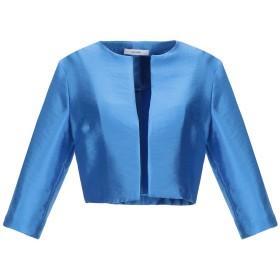 《期間限定セール開催中!》LANACAPRINA レディース テーラードジャケット ブルー 44 レーヨン 53% / ポリエステル 32% / ナイロン 15%