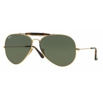 レイバン レディース サングラス・アイウェア アクセサリー Icon Outdoorsman II Double Bridge Aviator Sunglasses Gold/Dark Green