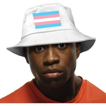 Transgender Pride Flagバケットハット ハット 帽子 紫外線対策 サファリハット カジュアル スポーツ メンズ レディース プレゼント UVカット つば広 おしゃれ 可愛い 日よけ 夏季 小顔効果