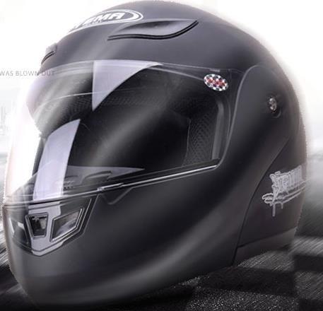 野馬春季摩托車頭盔男防霧機車全盔覆式安全帽四季半雙鏡片揭面盔
