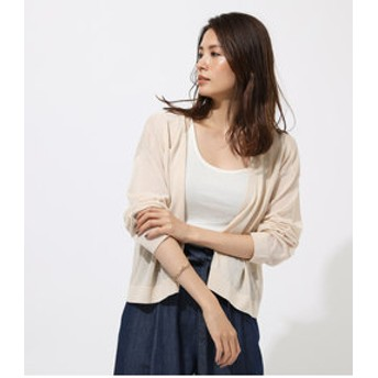 【AZUL by moussy:トップス】BOXY LOOSE KNIT CARDIGAN
