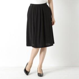 スカート レディース ロング 選べる8色展開◎何枚でも欲しいプリントスカート(無地・柄) 「ブラック」