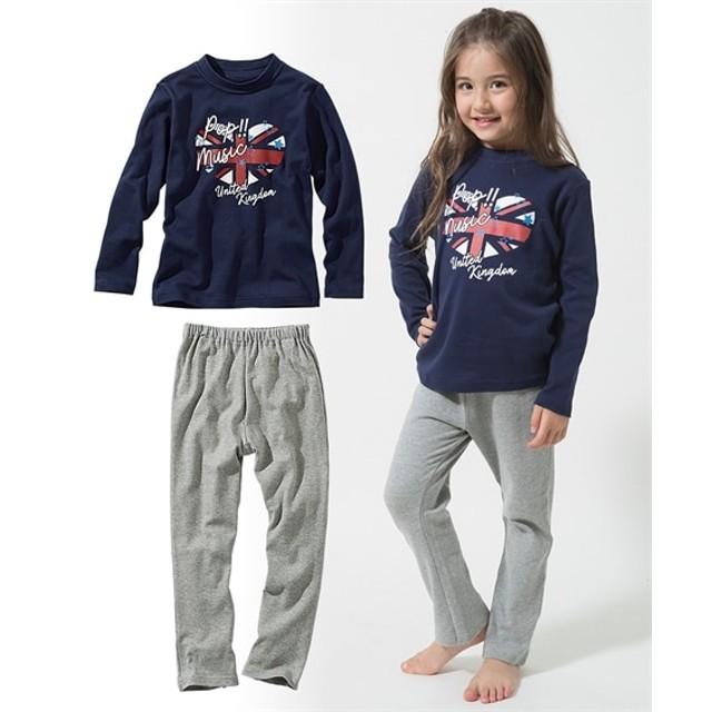 女の子プリントパジャマ(女の子 子供服。ジュニア服) キッズパジャマ