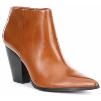 カルバンクライン レディース ブーツ・レインブーツ シューズ Ignazia Leather Block Heel Booties Russet