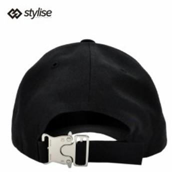 スタイライズ セレクト キャップ STYLISE SELECT BASEBALL CAP WITH BUCKLE メンズ ブラック シルバー 帽子 ベースボールキャップ セーフ
