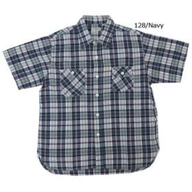 (シュガーケーン)SUGAR CANE SUGAR CANE LIGHT 半袖 マドラス チェック ワークシャツ SC38176 XL 128ネイビー