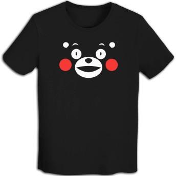 Tシャツ メンズ 半袖プリントくまモン でか顔 おしゃれシンプル 通学 運動 日常用