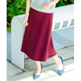 使えるニットソーフレアスカート (ロング丈・マキシ丈スカート),skirt