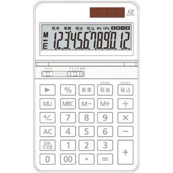 AURORA 中型電卓 12桁 卓上タイプ ホワイト DT700TXW 1台