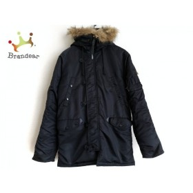 アルファ ALPHA INDUSTRIES ダウンジャケット サイズM メンズ 黒×ダークブラウン 冬物 新着 20190801