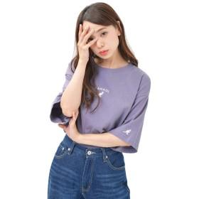 パープルA L (ディーループ)D-LOOP KANGOL カンゴール 天竺コットン 半袖Tシャツ レディース メンズ ユニセックス 大きいサイズ 125031-006-748