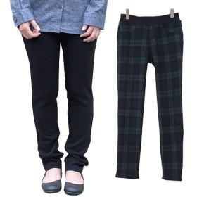 キューブ(QOOB) 大きいサイズ レディース ボトムス パンツ ズボン 裏シャギー あったかパンツ (ブラック 3L)