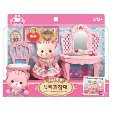 韓國 動物公仔 兔寶家族  - 小貓 LINA梳妝台