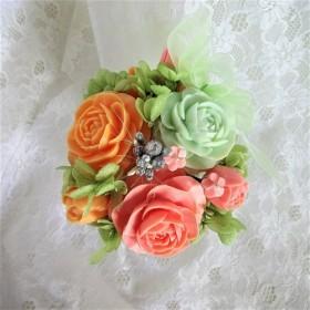 石鹸彫刻 香る花のアレンジメント