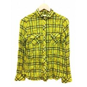 【中古】ダブルスタンダードクロージング ダブスタ DOUBLE STANDARD CLOTHING シャツ カジュアル チェック シワ加工 長袖 38 マルチカラー /AF63 レディース