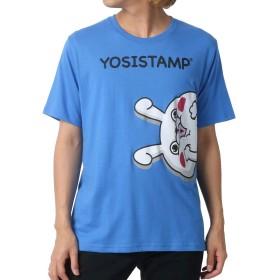 [ヨッシースタンプ] Tシャツ プリント 半袖 メンズ 柄4:(ボディ:ブルー/プリント:顔) L:(身丈69cm 肩幅44cm 身幅51cm 袖丈24cm)