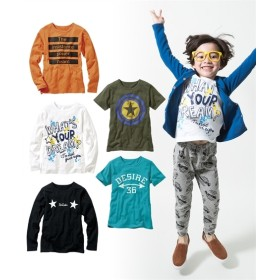 プリントTシャツ5枚組(半袖2枚+長袖3枚)(子供服 男の子 ジュニア服) Tシャツ・カットソー
