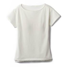 [ベルメゾン] Tシャツ・カットソー レディース サラリスト カップ付き くつろぎ Tシャツ 半袖 無地 オフホワイト :M
